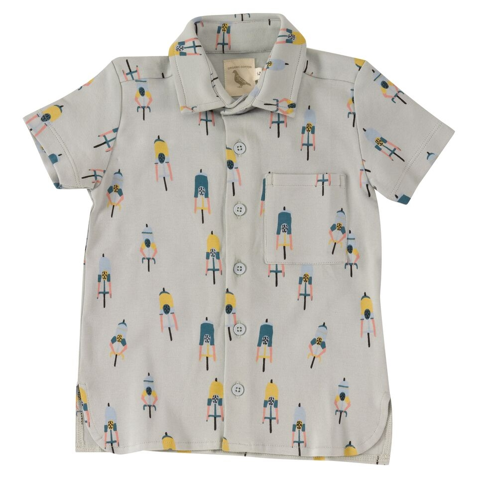 Pigeon printed Jersey Shirt Cyclists