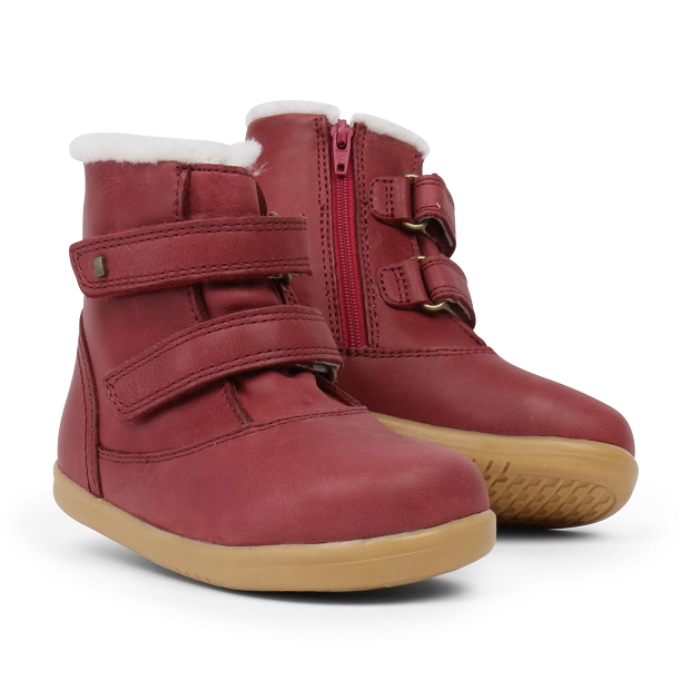 Bobux I Walk Aspen Boot Dark Red
