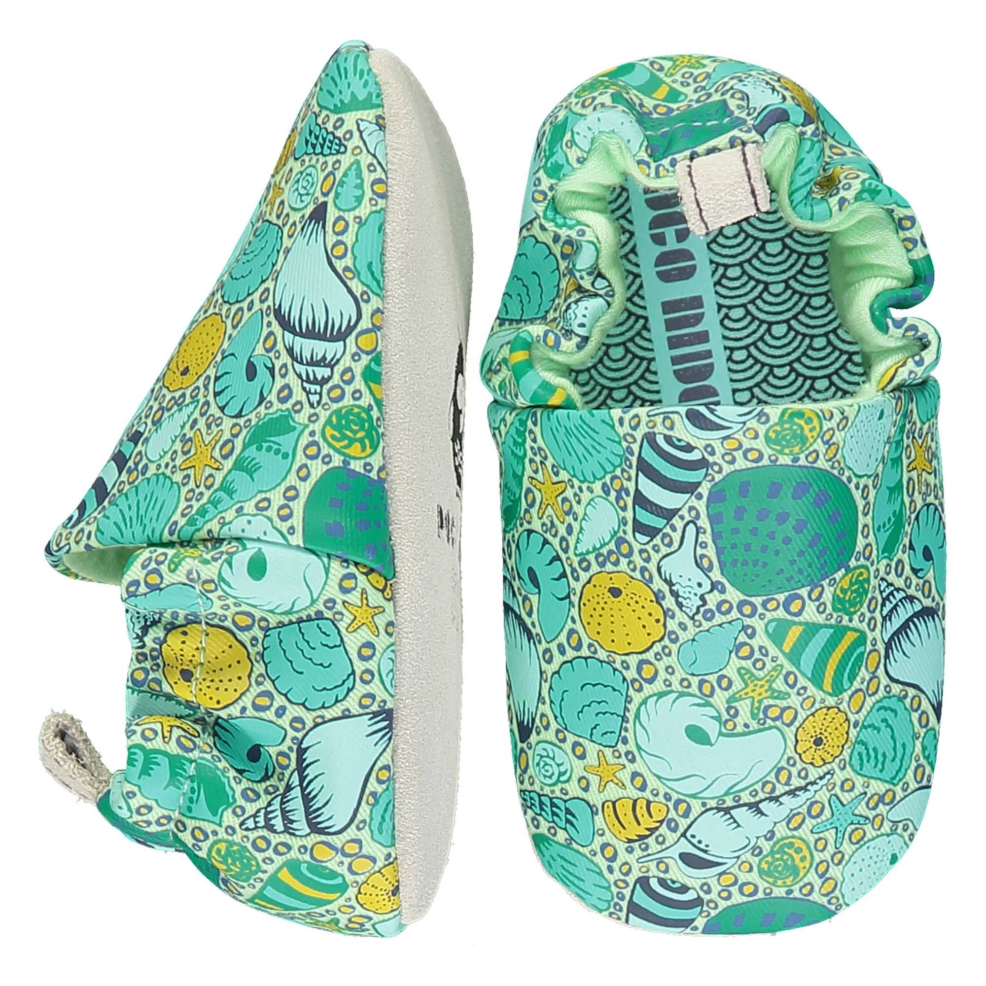 POCO NIDO Babuchas flexibles - Seashells Green